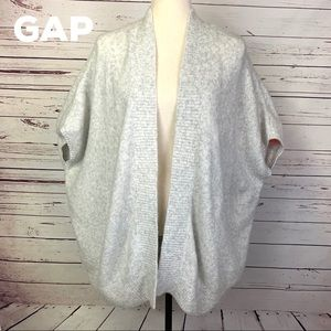 Gap Oversized Gray Open Cardigan Sweater